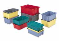 Group shot of multi-colored Plexton containers